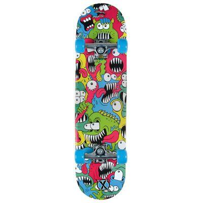 Xootz Kid's Rat Ramp Complete Beginners Double Kick Trick Skateboard - Maple Deck, 31 x 8 Inches