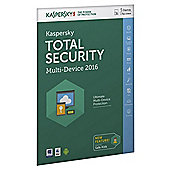 Kaspersky Total Security Multi-Device 2016, 5 Devices, 1 Year