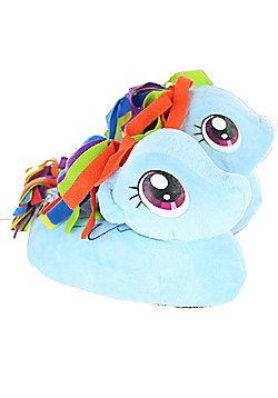Children's My Little Pony Rainbow Dash 3D Girls Slippers - Blue