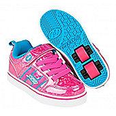 Heelys Bolt Plus Hot Pink Hologram/Neon Blue Heely Shoe - Pink