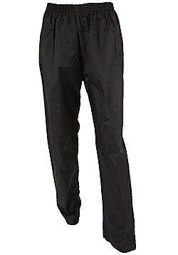 Mens Pakka Overtrouser Waterproof Taped Seams Walking Hiking Rain Trousers - Black