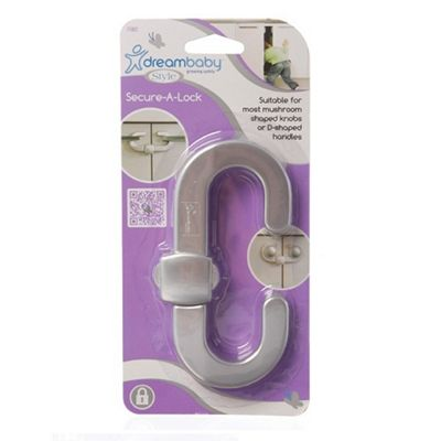 Dreambaby Silver Secure A Lock Cupboard Lock Pack of 6