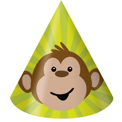 Monkeying around Party Cone Hats