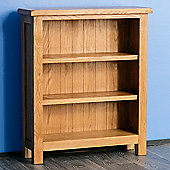 Surrey Oak Low Bookcase - Rustic Oak