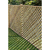 Elite Square Wooden Lattice Trellis, 4 pack, 180cm