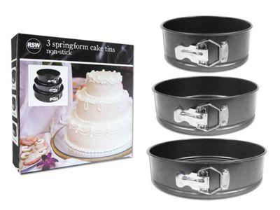 Set of 3 Non-Stick Cake Tins