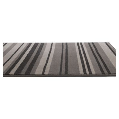 Home Essence Element Grey/Black Canterbury Rug - 220cm x 160cm (7 ft 2.5 in x 5 ft 3 in)
