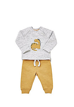 F&F Dinosaur Top and Joggers Set - Mustard