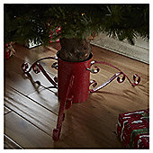 "4"" Red Metallic Christmas Tree Stand"