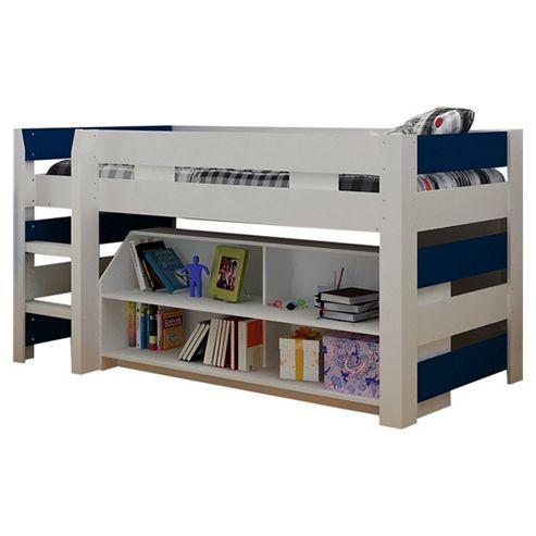 Home Essence Lollipop Mid Sleeper Bed - White / Navy