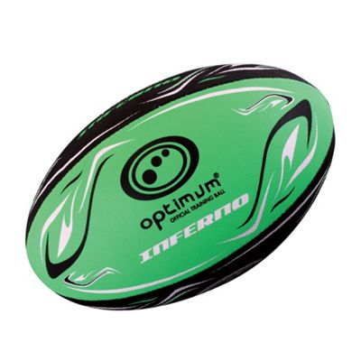 Optimum Inferno Rugby League Union Ball - Green - 5