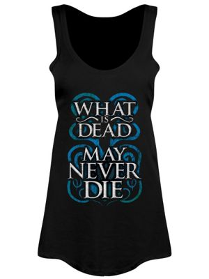 What Is Dead May Never Die Floaty Women's Vest, Black.