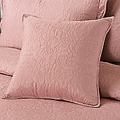 Highams Embroidered Pillow Case Cushion Cover, 43 x 43 cm - Vintage Pink