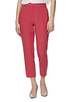 F&F Ruffle Pocket Slim Fit Trousers - Pink