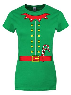 Cute Elf Costume Green Women's T-shirt