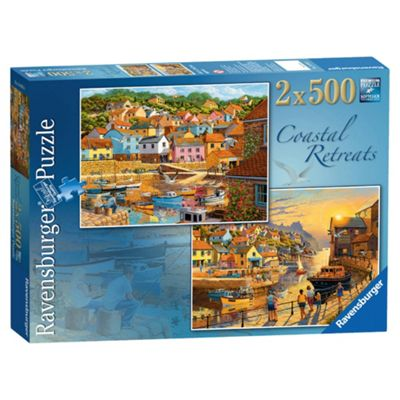 Ravensburger Coastal Retreats 2 x 500-Piece Jigsaw Puzzle