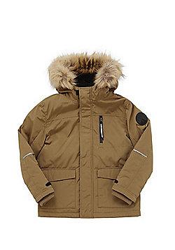 F&F Faux Fur Hood Jacket - Tan
