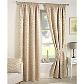 Curtina Crompton Natural Lined Curtains - 90x54 Inches (229x137cm)