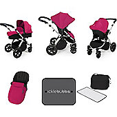 ickle bubba Stomp V3 Silver All-In-One Travel System (Pink)
