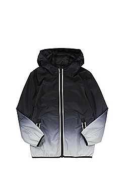 F&F Ombre Hooded Jacket - Black & Grey