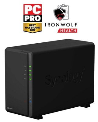 Synology DiskStation DS218play/24TB-IW 2-bay 24TB(2x12TB Seagate IronWolf) NAS designed for multimedia enthusiasts
