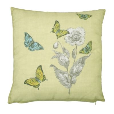 Dreams n Drapes Aviana Lemon Cushion Cover - 43x43cm
