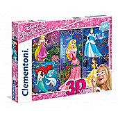 Disney Princesses - 3D Vision - 104pc Puzzle