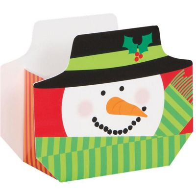 20 Pack Snowman Swirl Favour Boxes