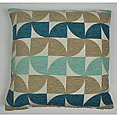 Mason Grey Windmill Teal Cushion Cover - 43x43cm
