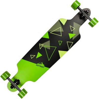 D-Street Polygon Tri Complete Drop Through Longboard