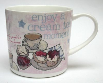 Alice Palace 'Enjoy a Cream Tea Moment' Mug