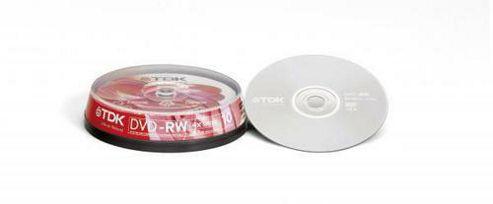 TDK DVD-RW 4X (Pack of 10)