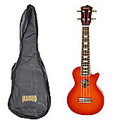 Mahalo Les Paul Electric Ukulele - Cherry Sunburst