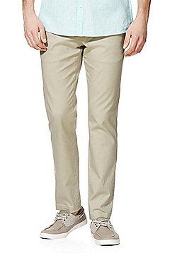 F&F Slim Leg Oxford Chinos - Stone