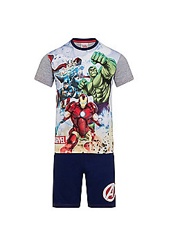 Marvel Avengers Boys Short Pyjamas - Grey
