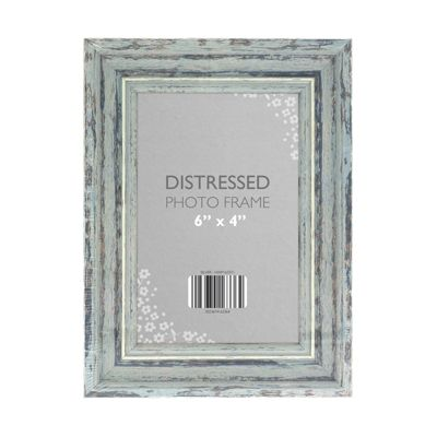 Country Club Distressed Photo Frame, Silver