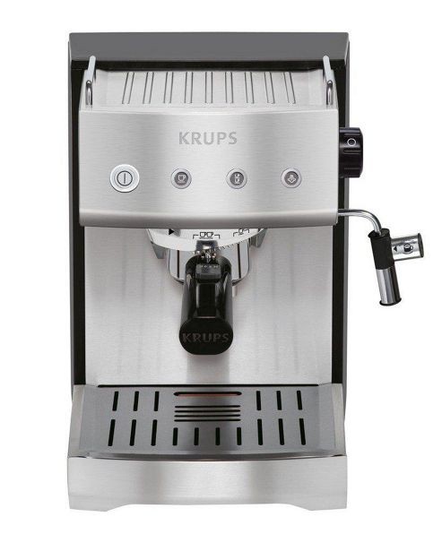 Krups XP5280 Espresso Maker in Black and Stainless Steel