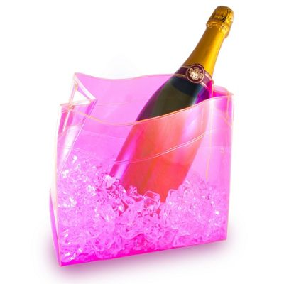Pink Foldable Ice Bucket Wine Champagne Chiller