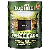 Cuprinol Less Mess Shed & Fence Care, Rich Oak, 5L