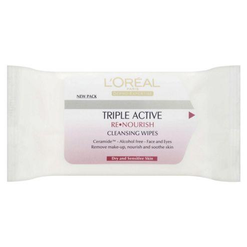 L'Oréal Triple Active ReNourish Cleansing Wipes