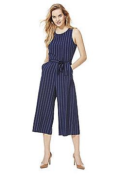 Mela London Pinstripe Jumpsuit - Blue