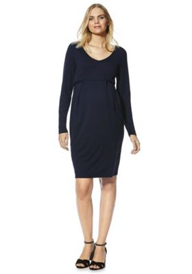 Mama Licious Jersey Maternity Dress XL Navy