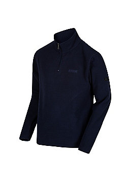 Regatta Elgon II Textured Grid Half Zip Fleece - Navy