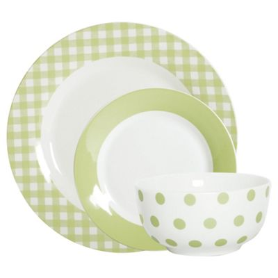 Mikasa 12 Piece Green Porcelain Dinner Set  sc 1 st  Tesco & Buy Mikasa 12 Piece Green Porcelain Dinner Set from our Dinner Sets ...
