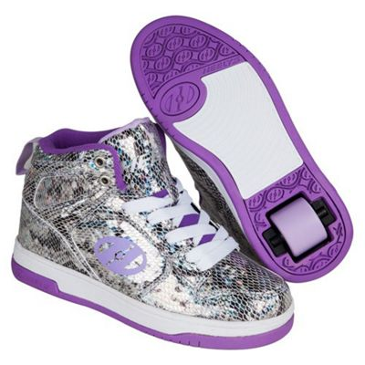 Flash 2.0 Snake Purple Metallic Kids Heely X2 Shoe UK 2