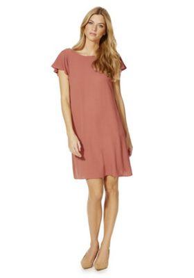 Vila Ruffle Detail Swing Dress S Pink