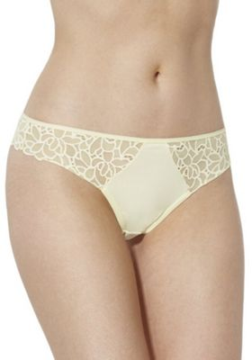 F&F Floral Lace Thong Lemon Yellow 6