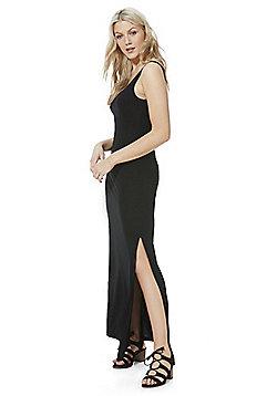 Vila Jersey Sleeveless Maxi Dress - Black
