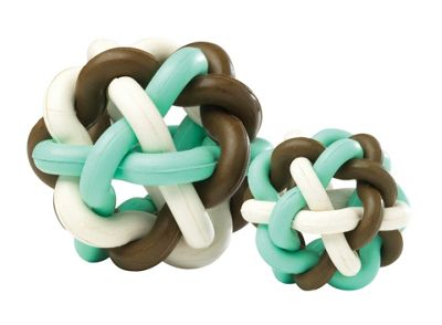 House of Paws Large Loopy Loop Ball Dog Toy in Coco