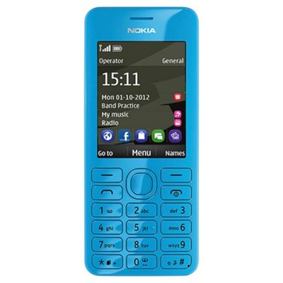Tesco Mobile Nokia 206 Cyan